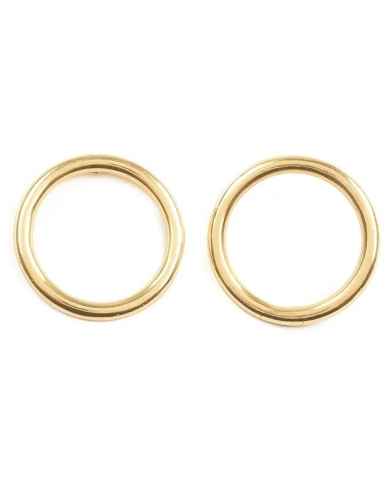 Ink + Alloy Brass Ring Earrings