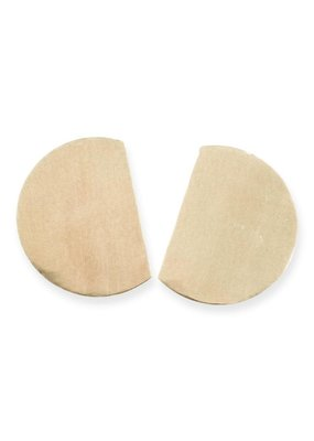 Ink + Alloy Brass Solid Cut Large Post Earrings