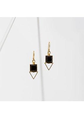 Larissa Loden Onyx Pique Earrings