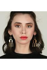 Larissa Loden Brass Havana Earrings