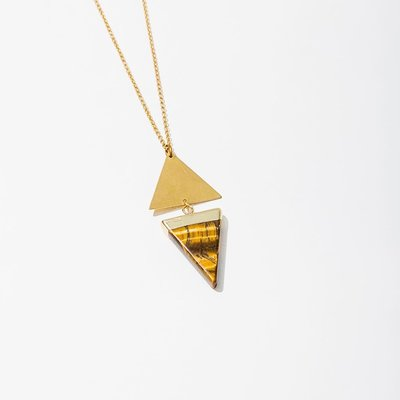 Larissa Loden Tiger Eye Echo Necklace