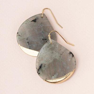 Scout Labradorite Gold Dipped Teardrop Earring