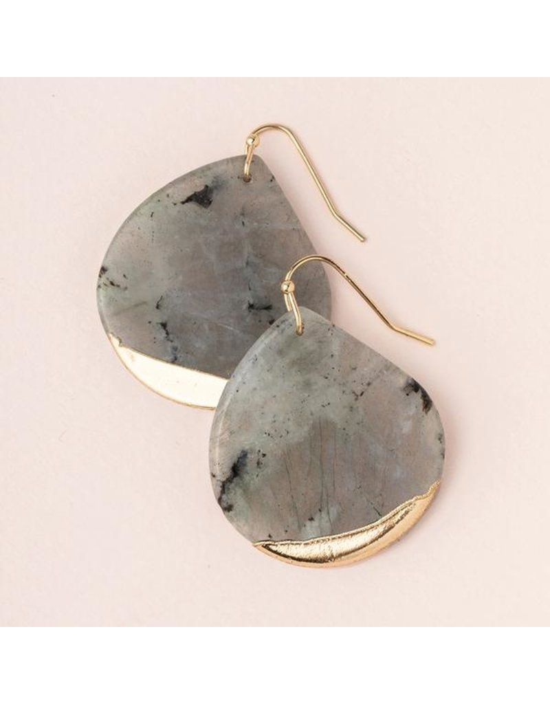 Scout Labradorite Gold Dipped Teardrop Earring