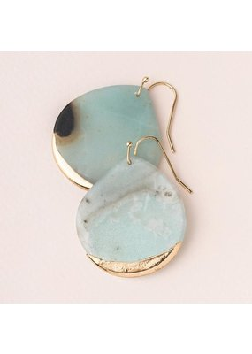 Scout Amazonite Gold Dipped Teardrop Earring