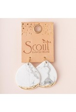 Scout Petrified Wood Gold Dipped Teardrop Earring