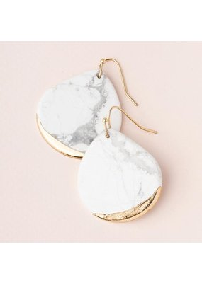 Scout Howlite Gold Dipped Teardrop Earring