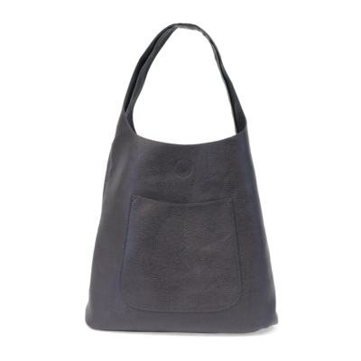 Joy Susan Metallic Blue Molly Slouchy Hobo Handbag