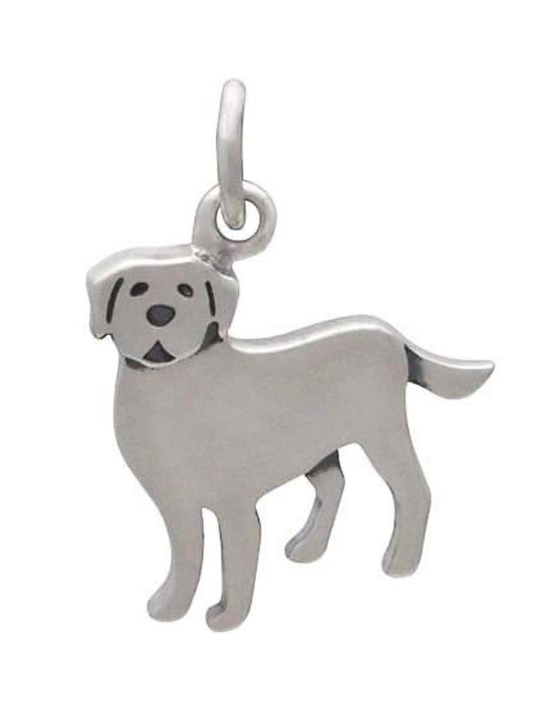Sterling Silver Labrador Dog Charm
