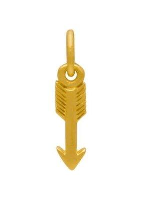 24k Gold Arrow Charm