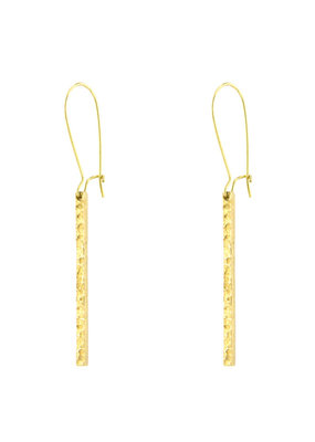 Santoré Hammered Brass Bar Earring