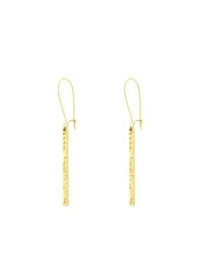 Santoré Hammered Brass Bar Earring