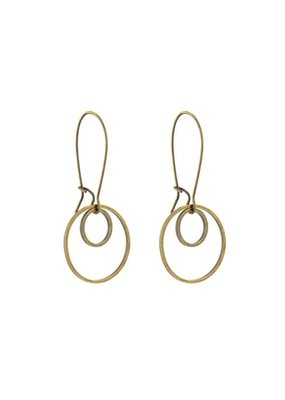 Santoré Small Double Circle Brass Earring