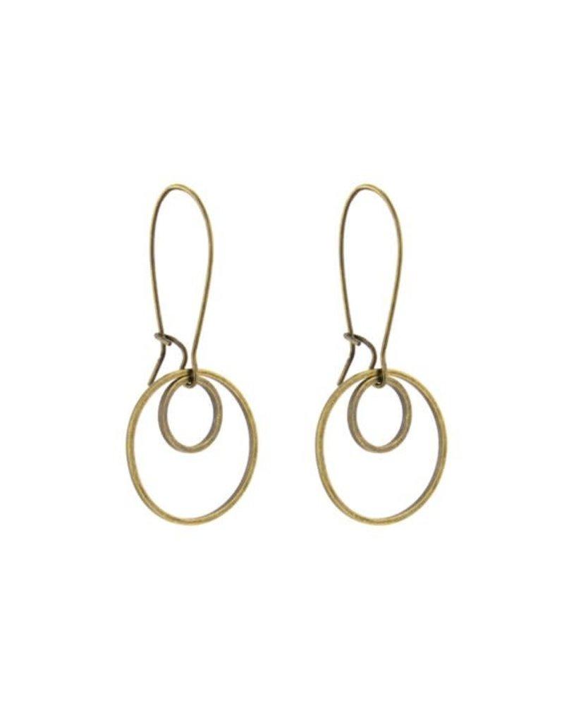 Santoré Small Double Circle Brass Earring