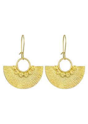 Santoré Brass Mayan Fan Earring