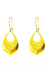 Santoré Brass Tribal Teardrop Earring