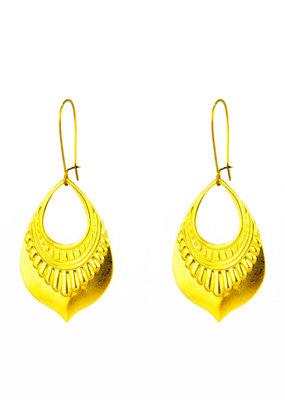 Santoré Brass Tribal Teardrop Earring