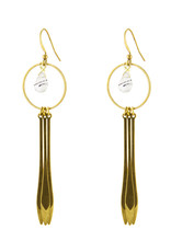 Santoré Brass Dream Catcher w Rutilated Quartz Earring