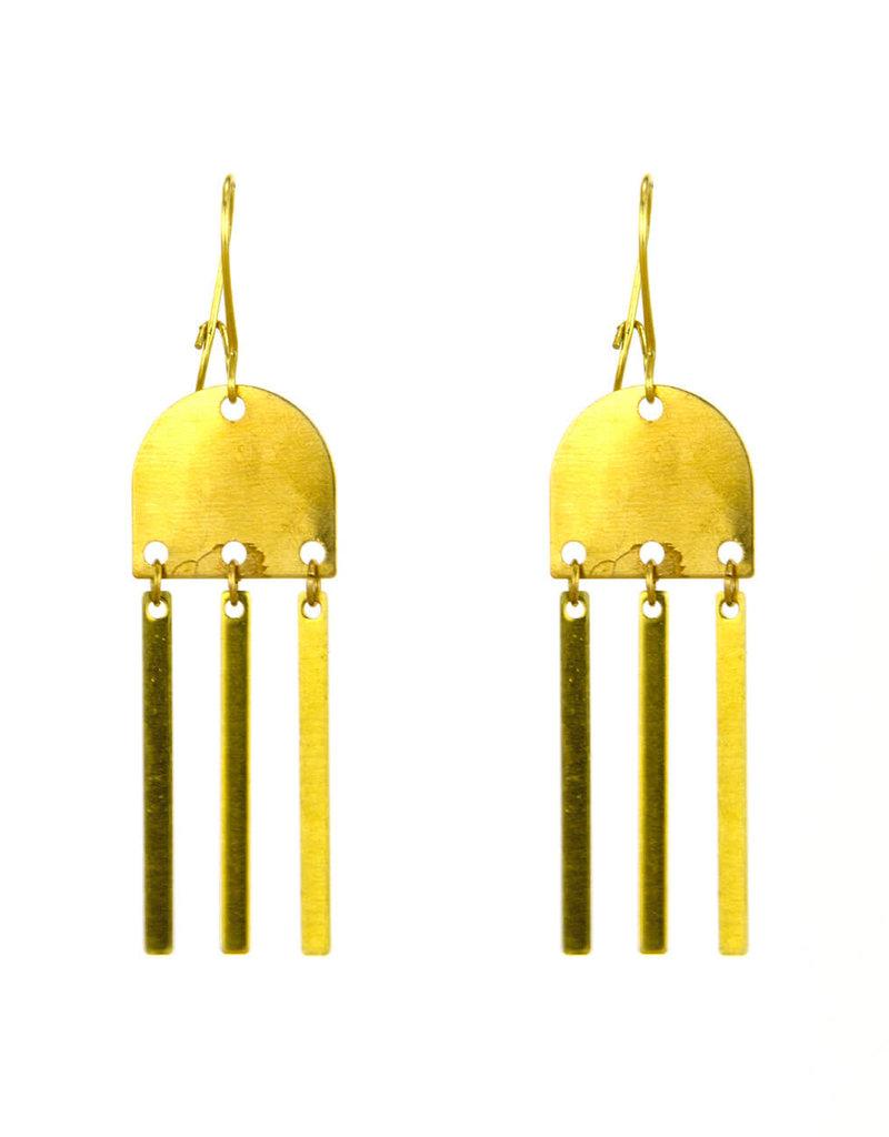 Santoré Brass Wind Chime Earring
