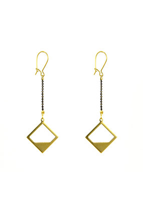 Santoré Brass Diamond Horizon Earring