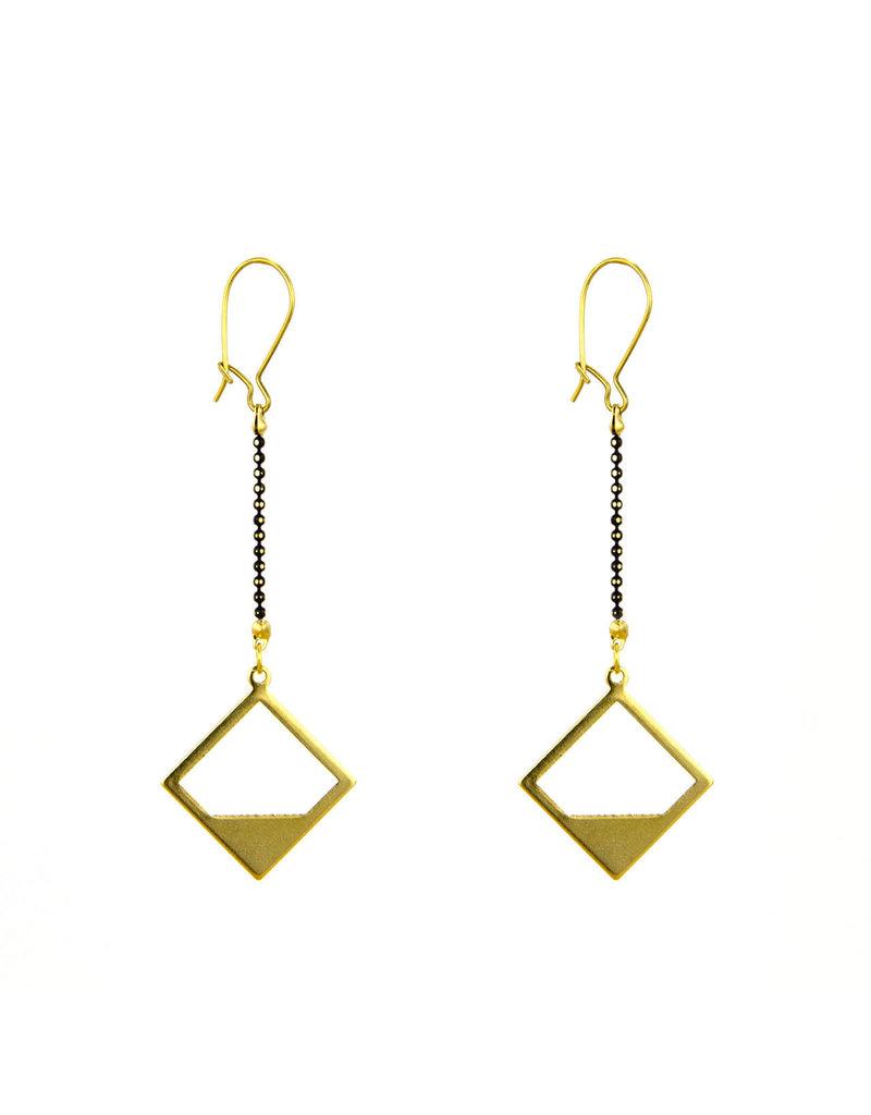 Santoré Brass Diamond Horizon Earring
