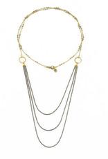 Santoré Brass Chandelier Long Necklace