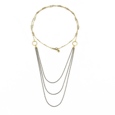 Santoré Brass Chandelier Long Necklace