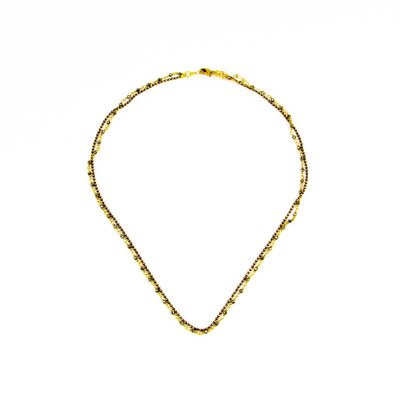 Santoré Baby Brass & Pyrite Double Chain Necklace