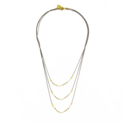 Santoré Brass Triple Drape Necklace