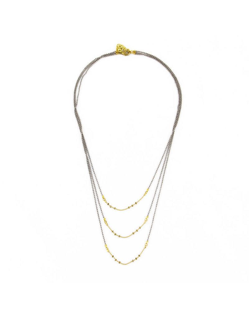 Santoré Brass Triple Drape Necklace