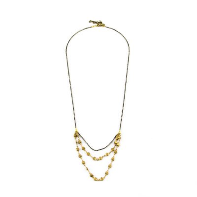 Santoré Brass Rivet Chain Drape Necklace