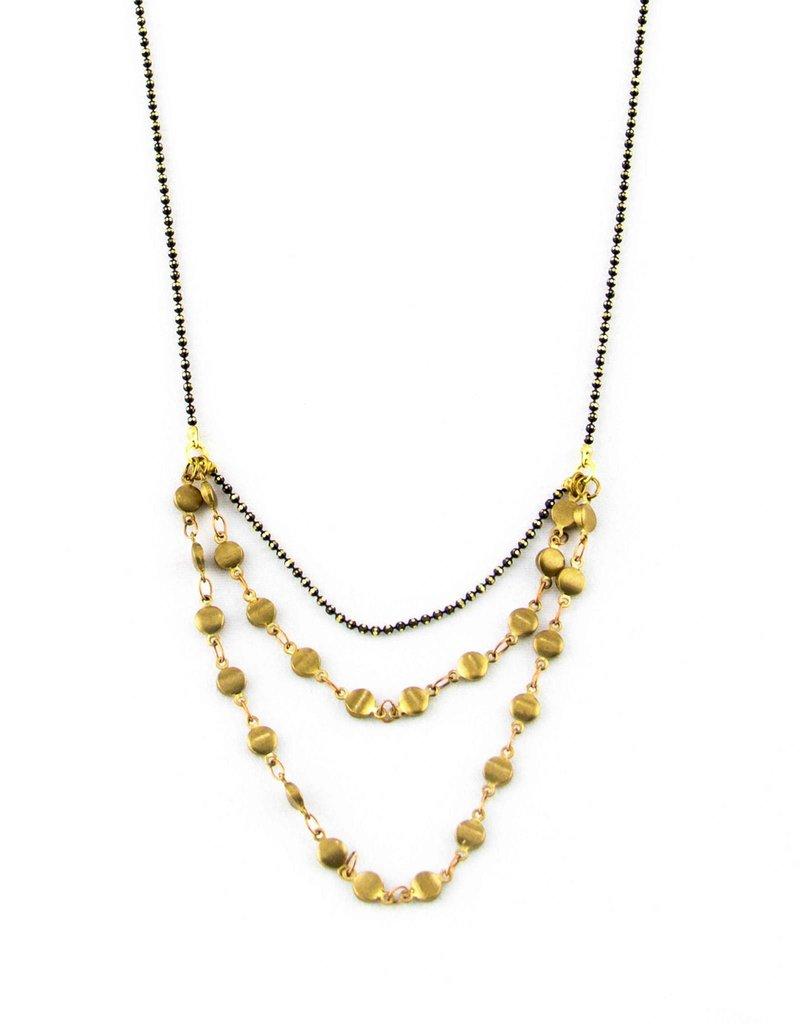 Santoré Brass Rivet Chain Drape Necklace