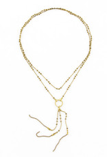 Santoré Brass Long Tassel Long Necklace