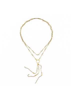 Santoré Brass Long Tassel Long Necklace