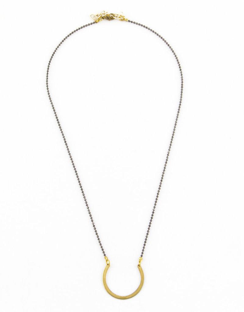 Santoré Gunmetal Brass Open Circle Neacklace
