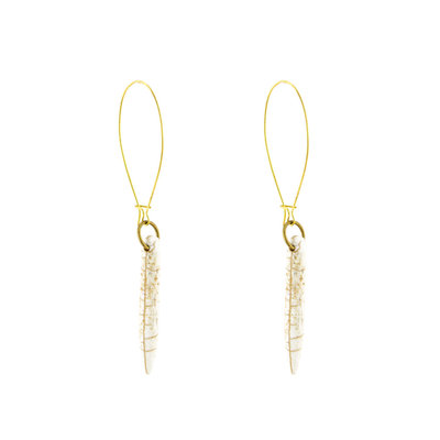 Santoré White Brass Howlite Drop Earring