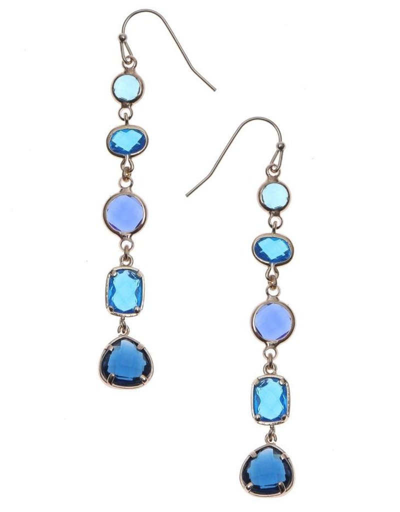 Nakamol Blue Crystal Arianne Earrings