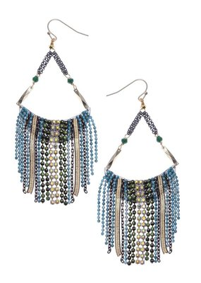 Nakamol Blue Bead Sasha Earrings