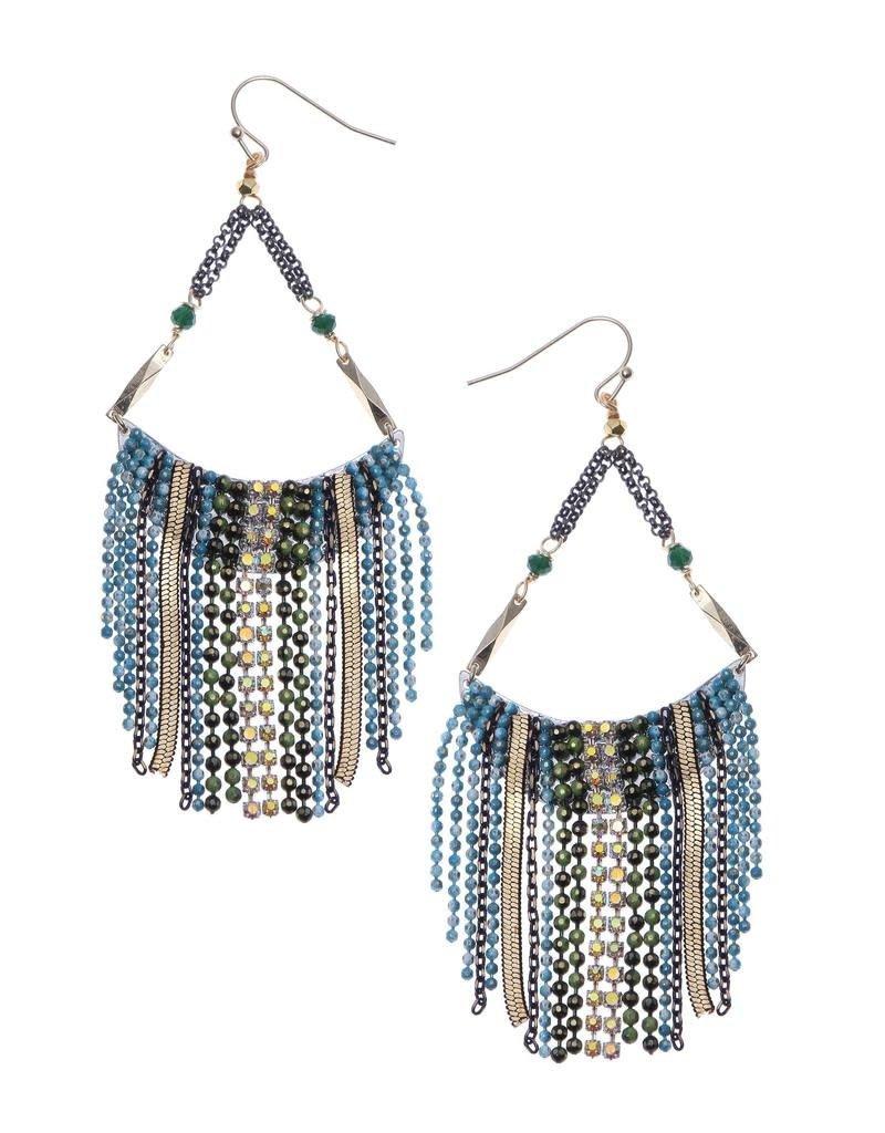 Nakamol Blue Bead Sasha Earrings