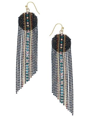 Nakamol Blue Bead Divya Earrings