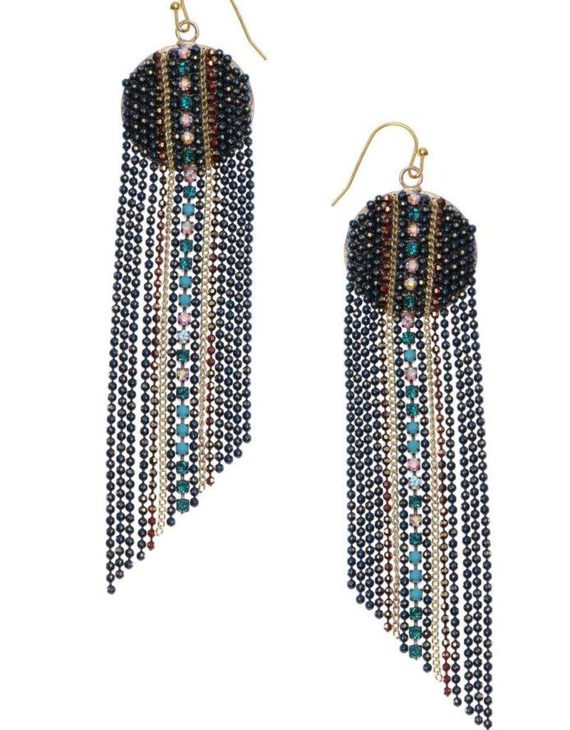 Nakamol Blue Bead Divya Earrings