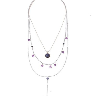 Nakamol Gold Purple Willifreda Necklace