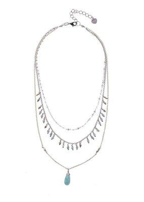 Nakamol Layered Jeidine Amazonite Necklace