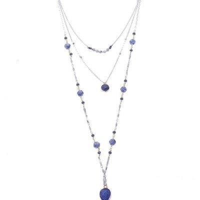 Nakamol Lapis Howlite Amelyn Layer Necklace