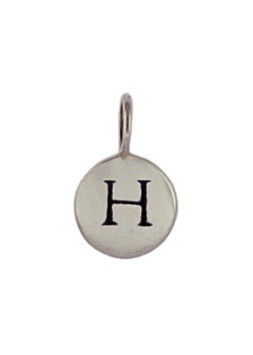 Sterling Silver Initial H Charm