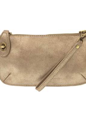 Joy Susan Rose Gold Lustre Lux Crossbody Wristlet Clutch