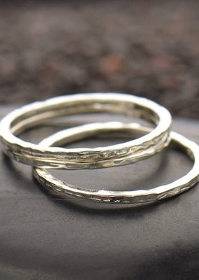 Sterling Silver Hammer Finish Ring