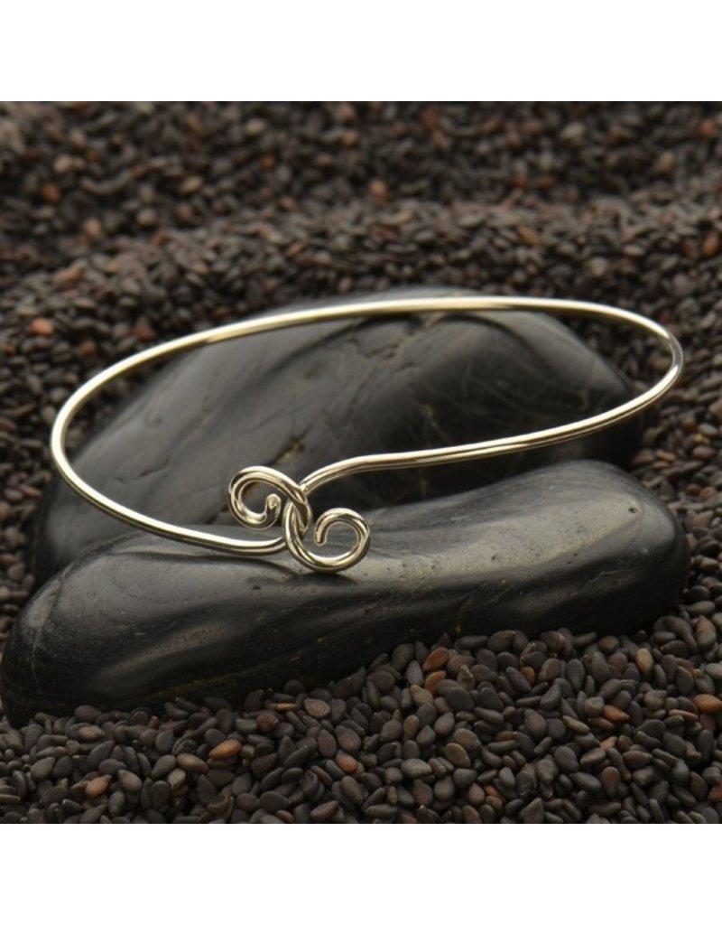 Sterling Silver Twist Charm Bracelet