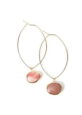 Lenny & Eva Pink Opal Ava Gemstone Earrings