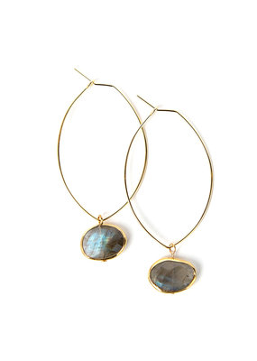 Lenny & Eva Labradorite Ava Gemstone Earrings