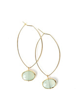 Lenny & Eva Aqua Chalcedony Ava Gemstone Earrings